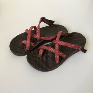 Size 7 pink Chaco sandals gently worn